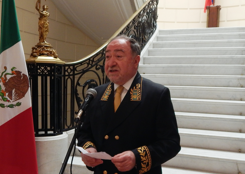 Russian Ambassador Eduard Rubénovich Malayán hosted his annual Diplomats Day reception at his embassy last month, dressed to the nines in his official diplomat uniform. Photo: The News/Thérèse Margolis