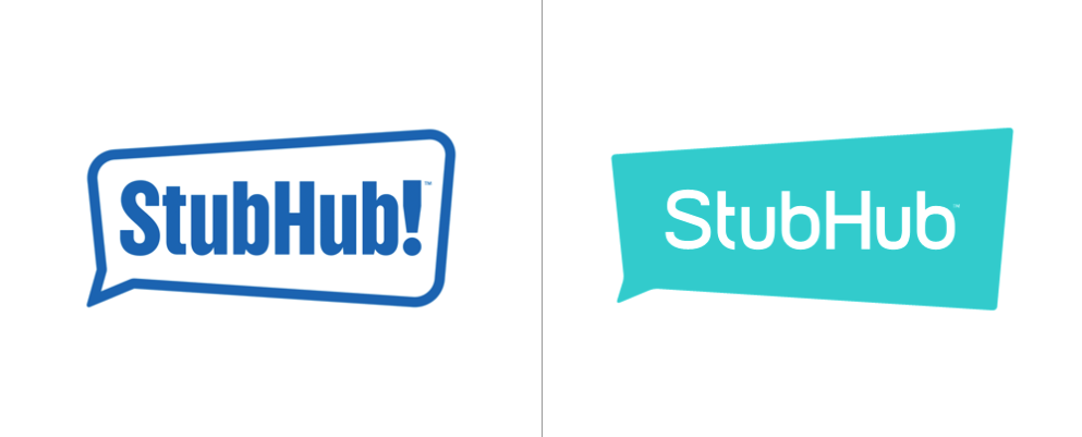 Stubhub updated its logo last week and dropped its enthusiastic exclamation point — maybe as it moves into its fifth country it no longer needs to yell to be noticed? Image via Stubhub
