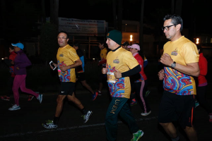 "Over 1,3000 runners participated in the ""All You Need is Run"" Night Race organized by the UAEMéx Foundation. Photo: Courtesy of UAEM"